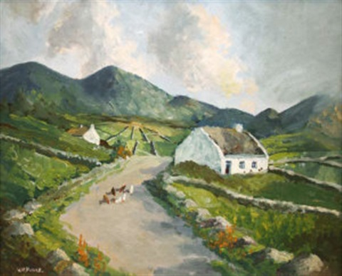 farmyard west of ireland by william h burns