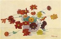 bouquet de fleurs by achille laugé