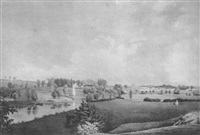 view of the battle ground at concord, mass. by fitz henry lane