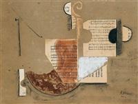 bodegón de violín by antonio huberti