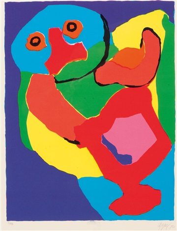 dancing man by karel appel