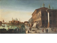 the molo with the church of santa maria della salute, venice by italian school-venetian (19)