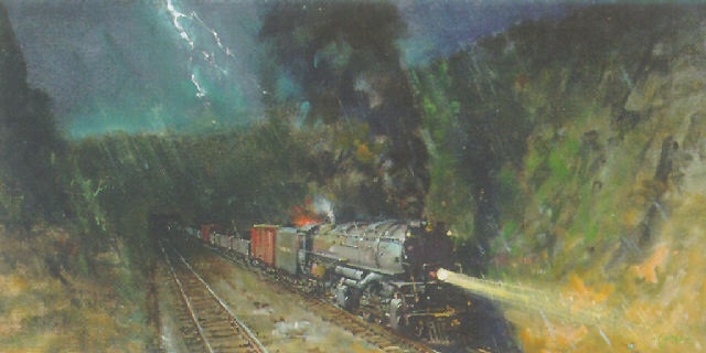 big boy on sherman hill by terence cuneo
