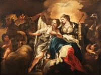 allegoria della temperanza, prudenza e fortezza e allegoria dei doni dello spirito (pair) by francesco solimena