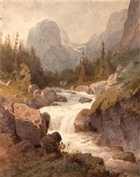 gebirgsbach im hochgebirge by gustav von gasteiger