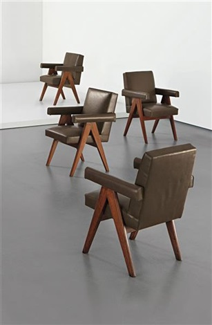 committee armchairs model no pj si 30 a designed for the high court assembly and panjab university administrative buildings chandigarh set of 4 by pierre jeanneret