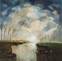 le rouissage du lin dans la lys by albert saverys