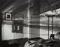 camera obscura image of the brooklyn bridge in bedroom by abelardo morell
