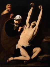 die wundpflege des heiligen sebastian durch die heilige irene (san sebastiano curato da sant irene) by jusepe de ribera