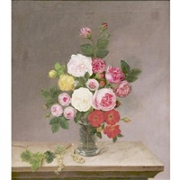 still life with roses and grapes by willem ackermann