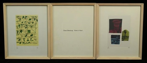 notes in hand set of 50 by claes oldenburg