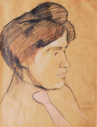 portrait of a woman by franz nölken