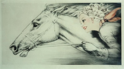thoroughbreds pur sang by louis icart