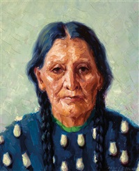 jenny yellow bear, sioux by henry balink
