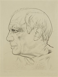 portrait de picasso by paul lemagny
