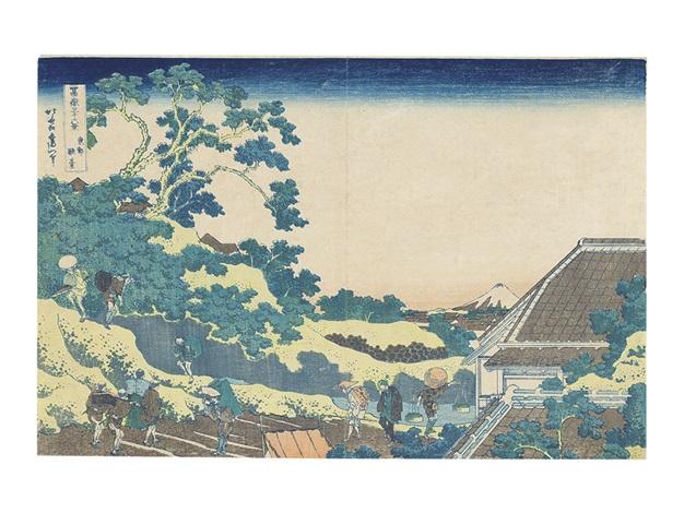Katsushika Hokusai: Thirty-six Views of Mt. Fuji: Dawn at Isawa in ...
