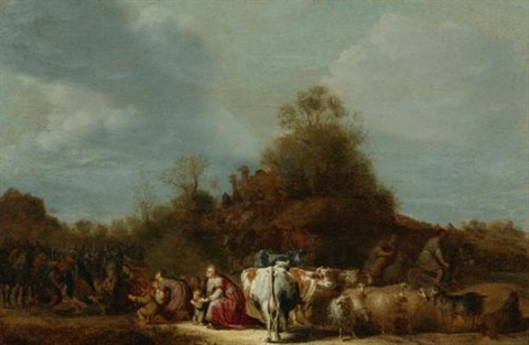 the meeting of jacob and esau by gerrit claesz bleker