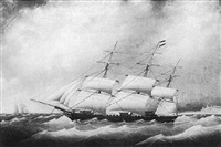 portrait of the three masted ship