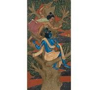 krishna and subal first meeting radha by nandalal bose