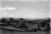 binninger landschaft mit blick auf die rheinebene by ernest bolens