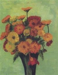 vase mit gerbera by johannes fischer