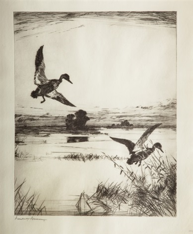 two black ducks by frank weston benson