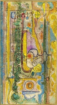 untitled - compose rose by richard pousette-dart