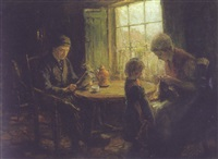 the first sewing lesson by cornelius christiaan zwaan