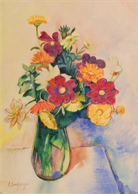 bouquets of flowers by ernst honigberger