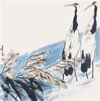 双鹤图 by qi xinmin