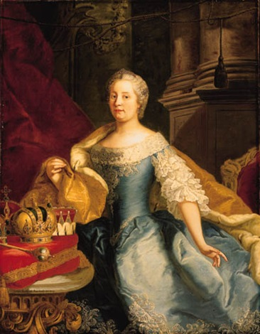 portrait of the empress maria theresa by johann gottfried auerbach