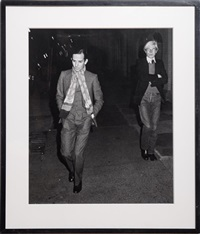 andy warhol and fred hughes, new york by ron galella