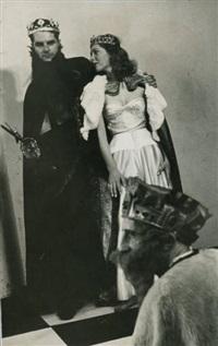 marcel duchamo, jaqueline matisse et nicolas calas pendant le tournage de eight by eight by arnold eagle