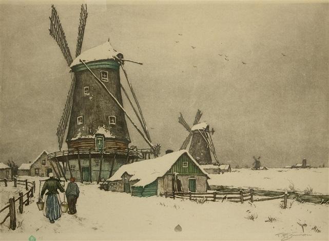 windmühle by t frantisek simon