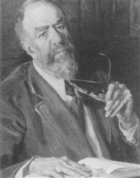 portrait of prof. newton gray by leland gustavson