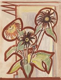 dunkle sonnenblumen by erich heckel