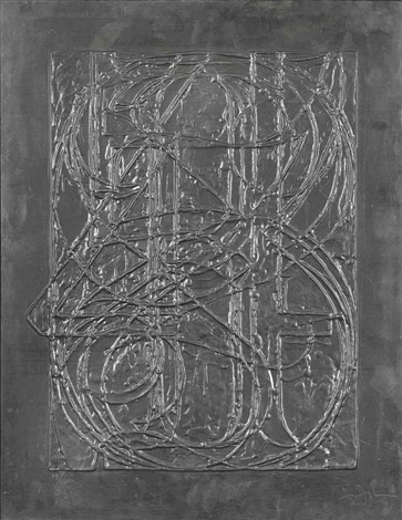 0 through 9 from lead reliefs by jasper johns