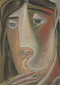 head of woman by george keyt