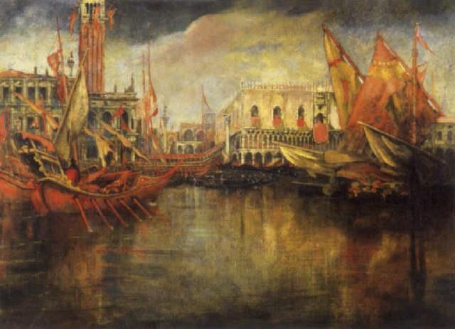 festa del redentore 1909 by gennaro favai
