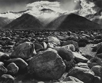 clearing storm, mt. williamson, sierra nevada (from manzanar) by ansel adams