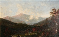 afternoon effect on mt. washington, view from the wilson house, jackson, nh by george loring brown