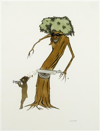 untitled (tree man) by marcel dzama