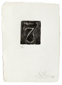figure 7 (from a set of ten numerals) by jasper johns