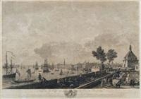 vue de la ville et du port de bordeaux by jacques philippe le bas