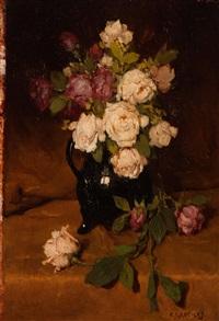 bloemstilleven by christiaan johannes addicks