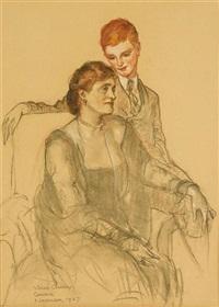 portrait of mrs. elizabeth findlay and her son, samuel by violet oakley