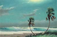florida highwaymen panoramic beach scene by sam newton