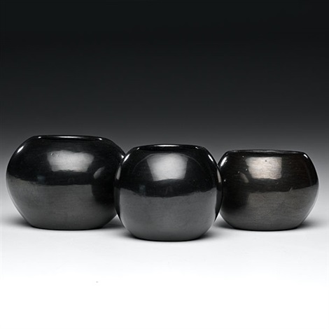bowls set of 3 by maria martinez