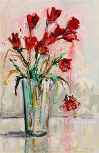 still life, flowers in a vase by angelina raspel