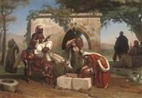 a serenade at the well by pierre-francois lehoux